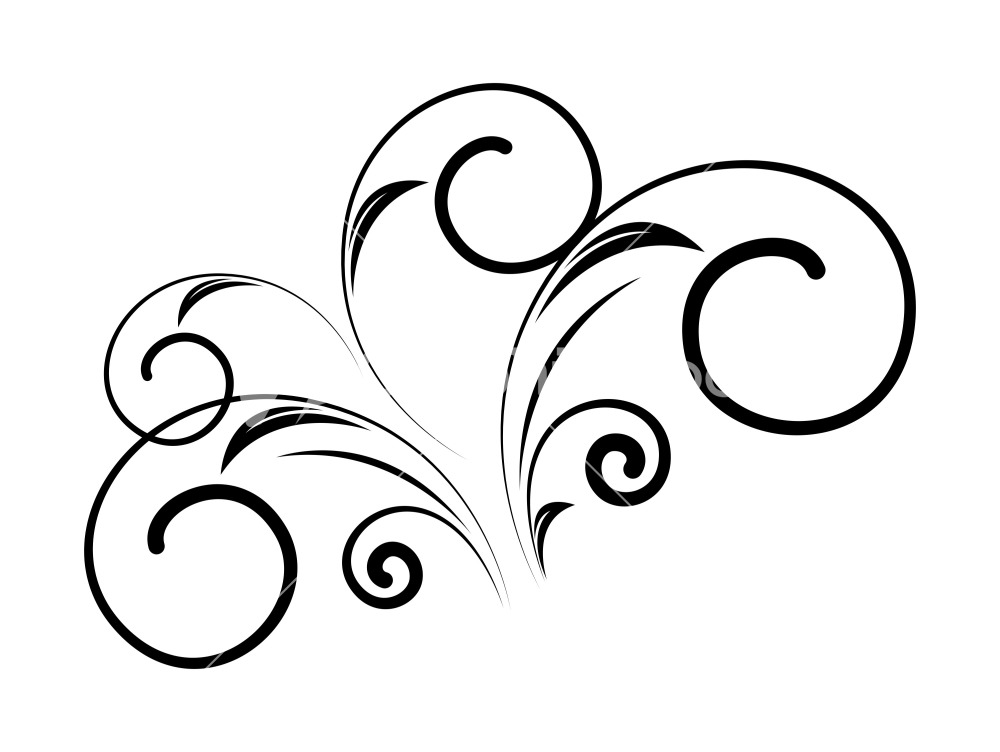 Floral Swirl Vector - Cliparts.co