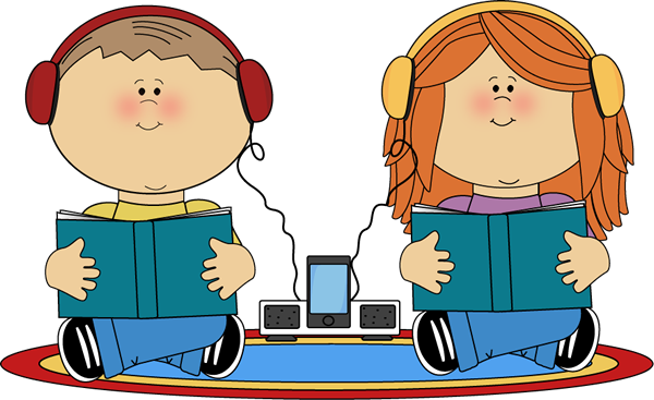 School Kids on Rug Listening to Books Clip Art - School Kids on ...