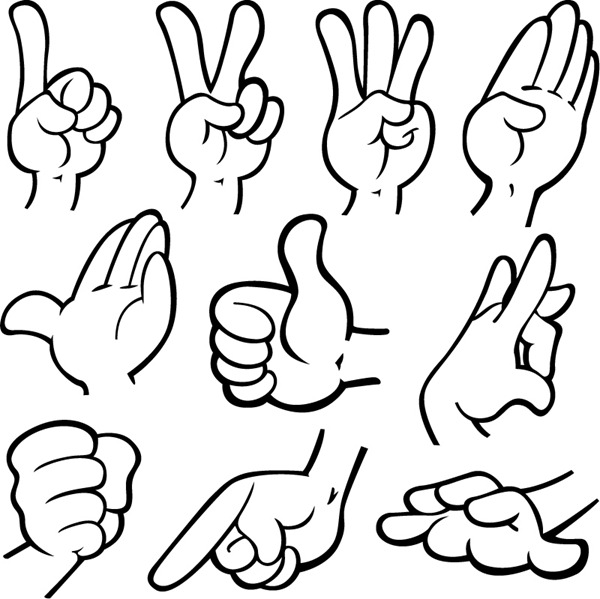 Cartoon Hand Gestures - ClipArt Best