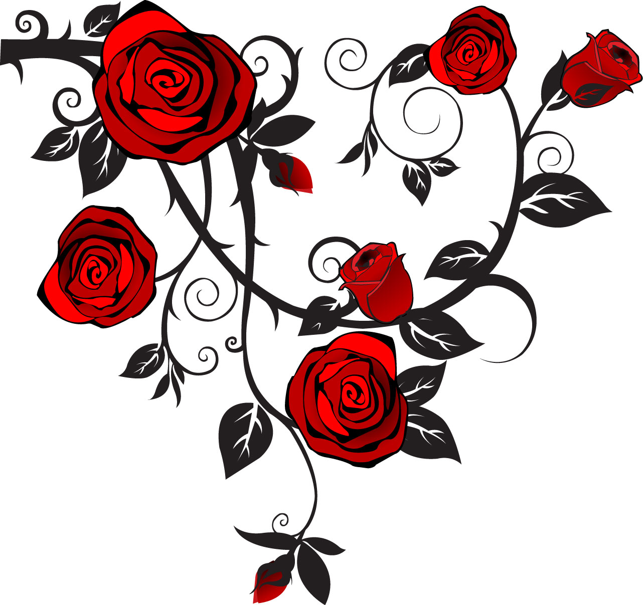 Rose image - vector clip art online, royalty free & public domain