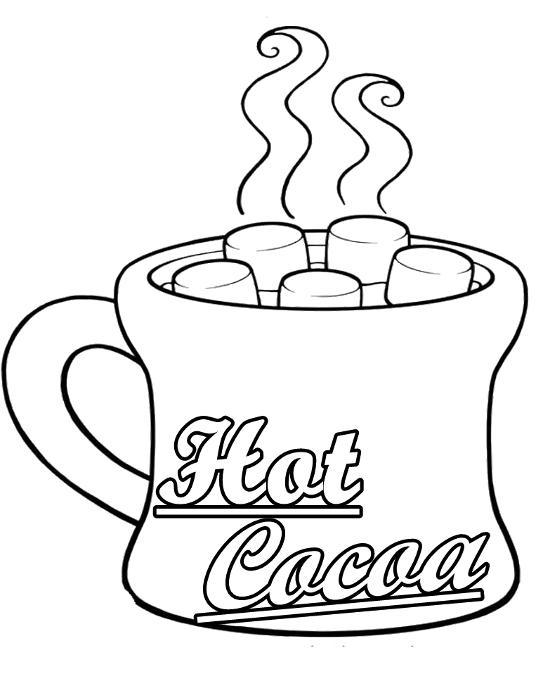 Hot cocoa drawing the image kid has it for Hot chocolate coloring page