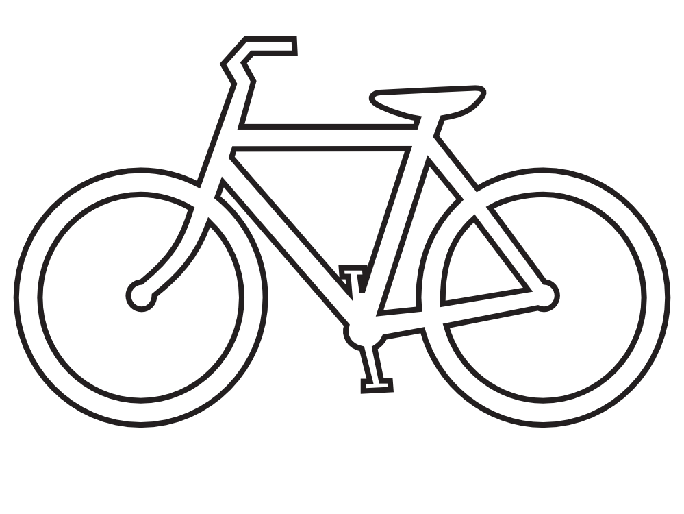 clipartist.net » Clip Art » bicycle route sign black white line ...