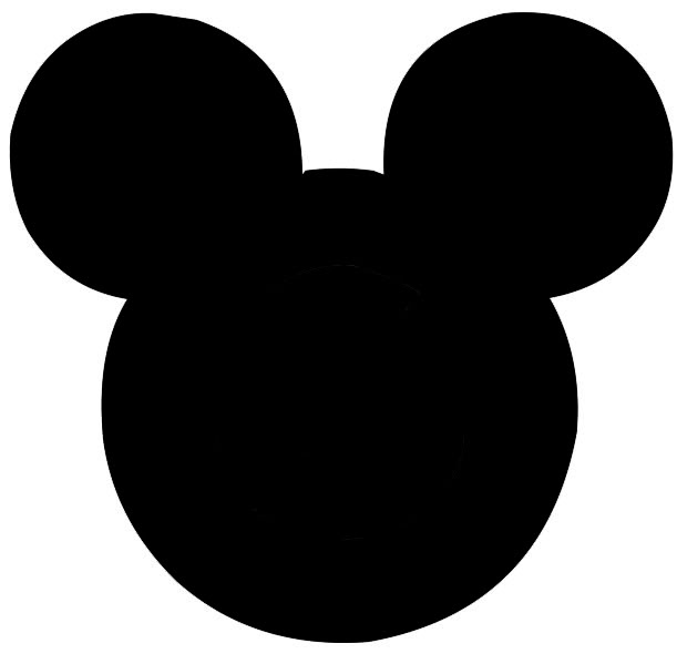cliparts for your documents web sites art projects or presentations    Black Mickey Mouse Head Clipart