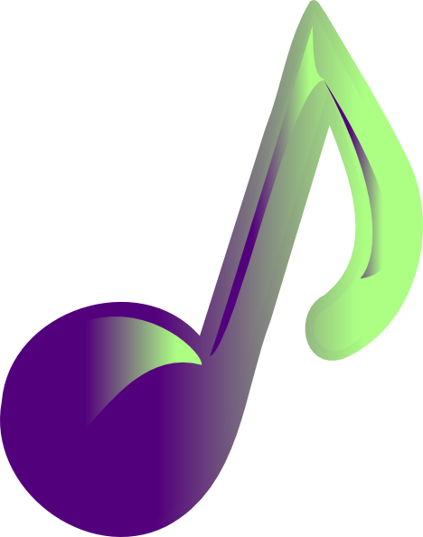 Music Note clip art - vector clip art online, royalty free ...
