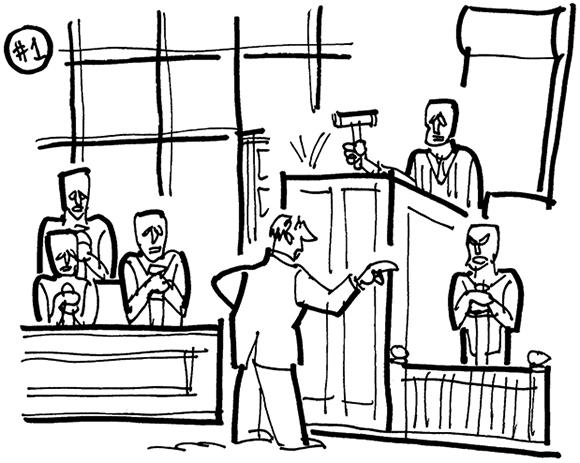 Cartoon Courtroom