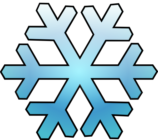 Snowflake clip art - vector clip art online, royalty free & public ...