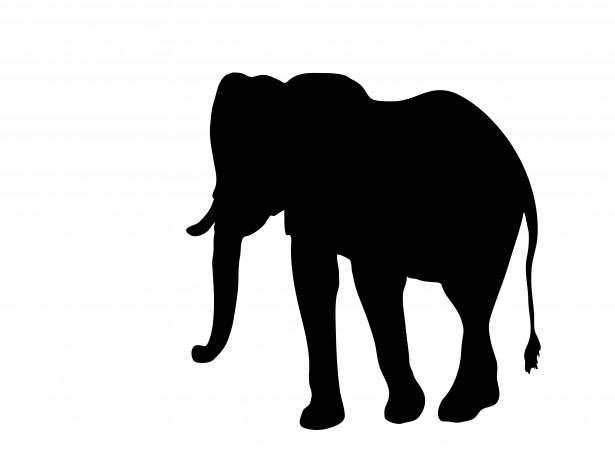 clipart elephant outline - photo #39