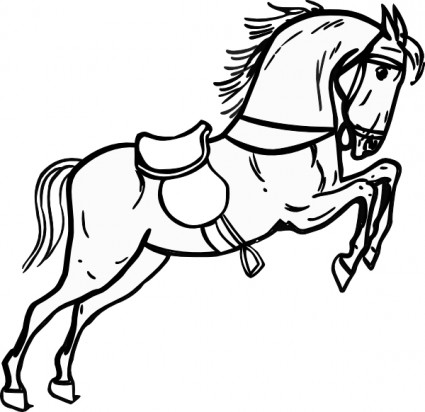 Jumping Horse Outline clip art Vector clip art - Free vector for ...