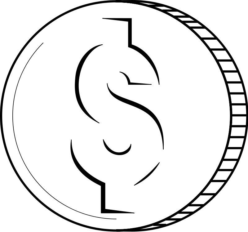 dime clipart black and white - photo #15