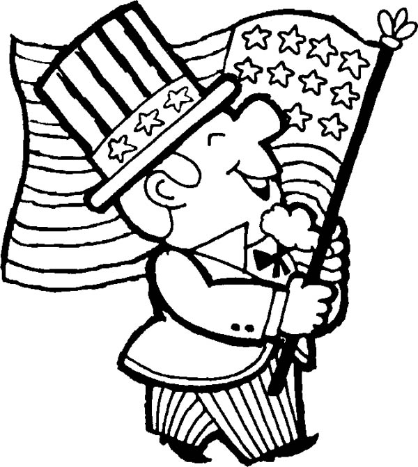 Cartoon of Memorial Day Coloring Page - Free & Printable Coloring ...