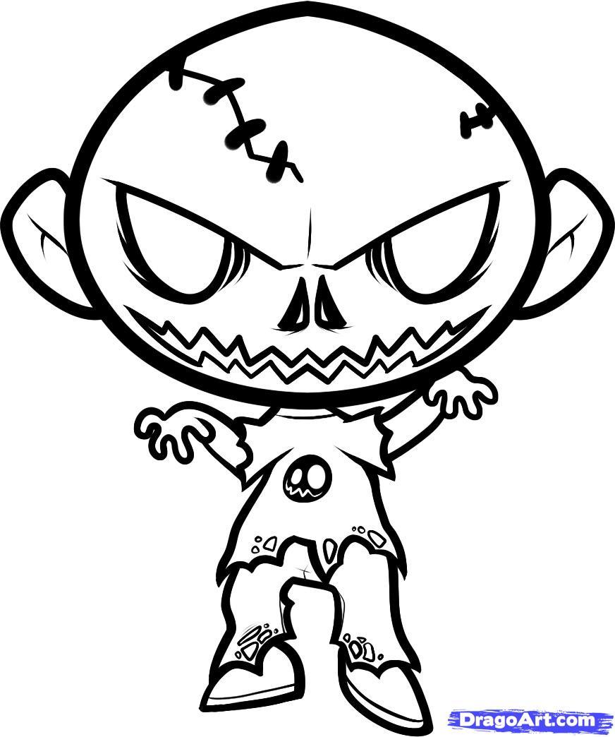 Рисунки на зомби