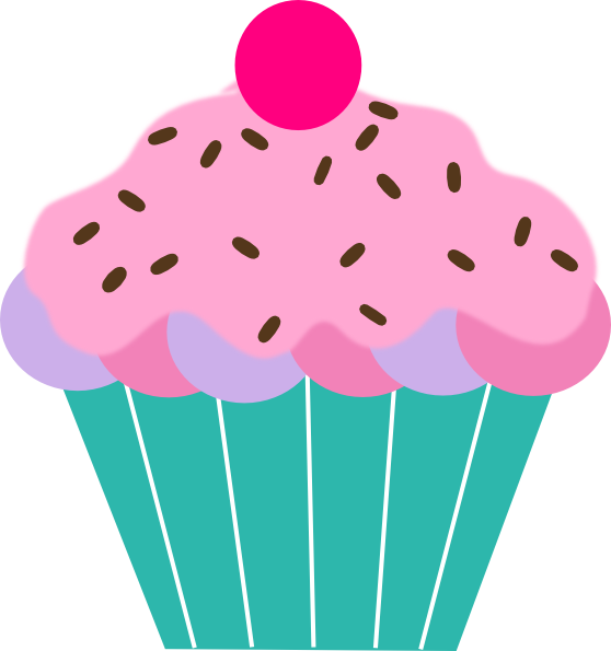 Pink Cupcake clip art - vector clip art online, royalty free ...