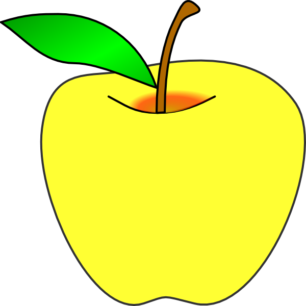 Yellow Apple Pictures Yellow Apple Clip Art Vector