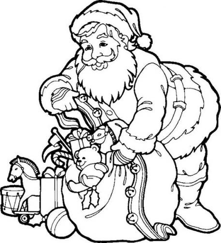 father christmas online coloring pages | Father Christmas Colouring Pictures - Cliparts.co