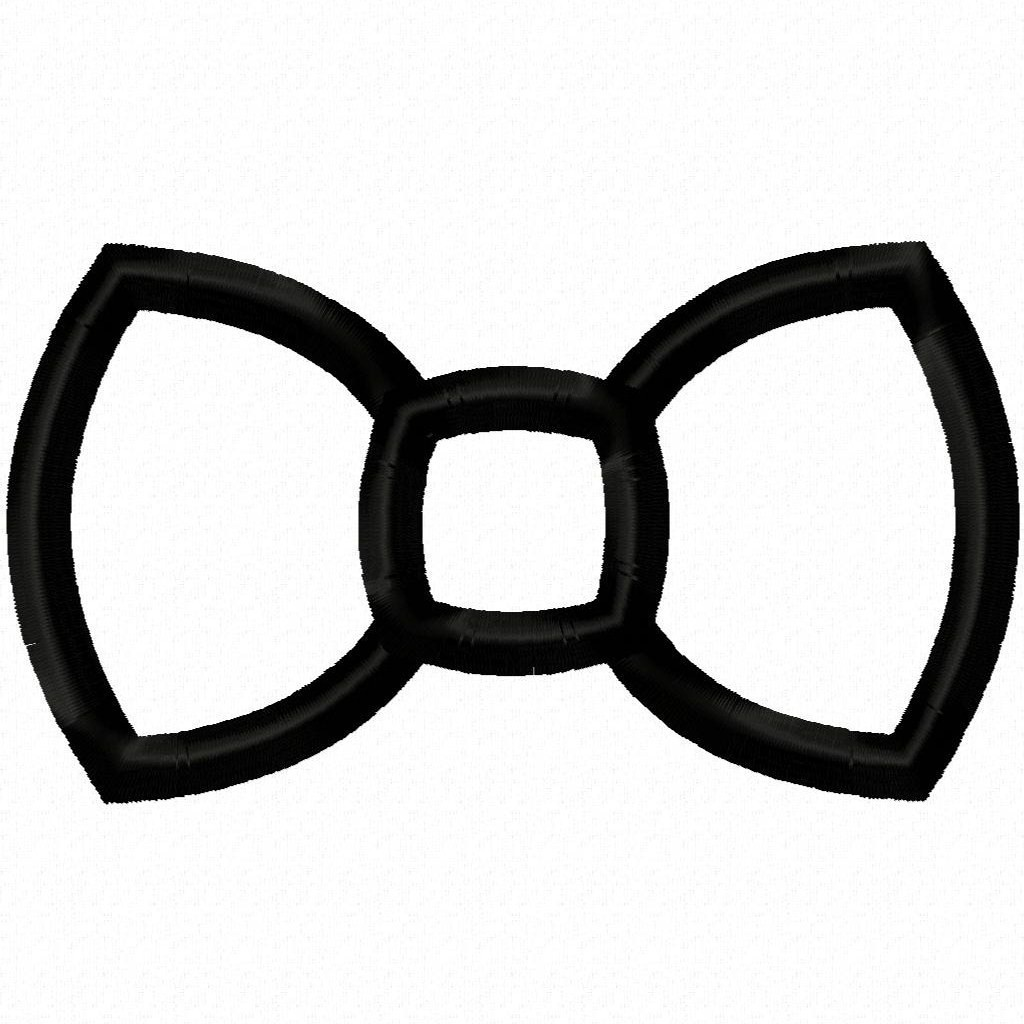 clipart bow tie outline - photo #3