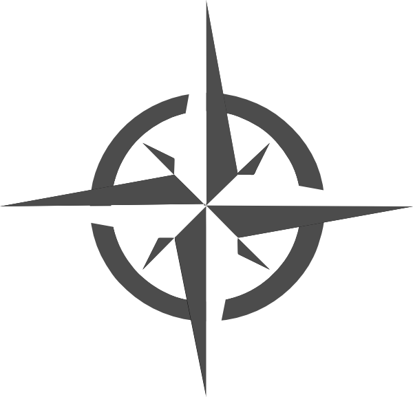 White Compass Rose clip art - vector clip art online, royalty free ...
