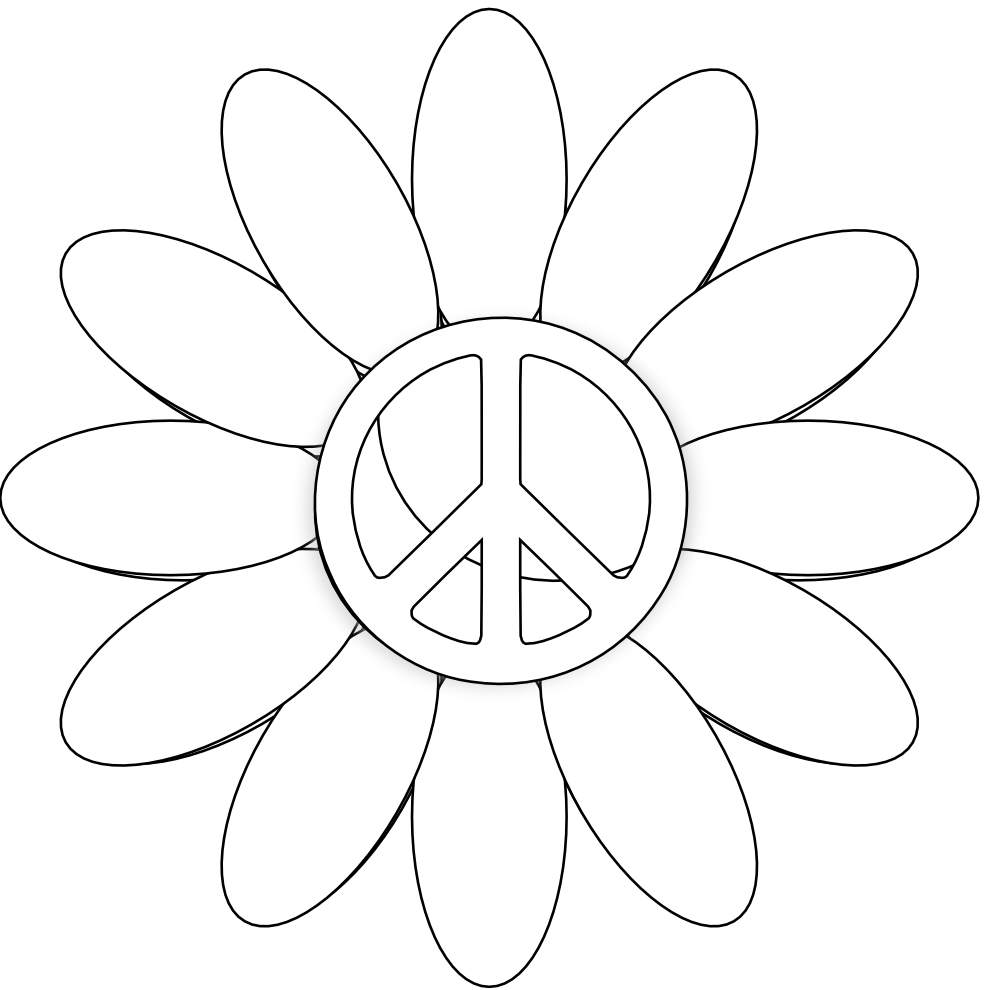 printable peace signs coloring pages - photo#31