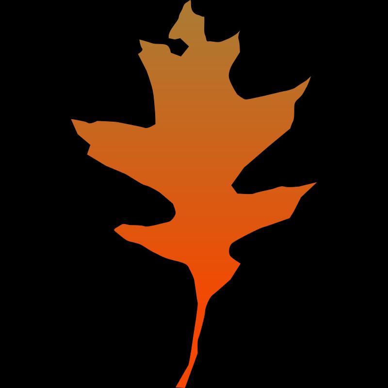 orange leaf clip art - photo #42