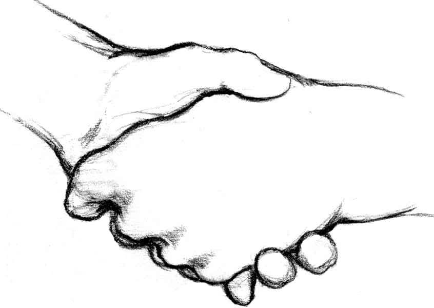 Cartoon Hand Shake