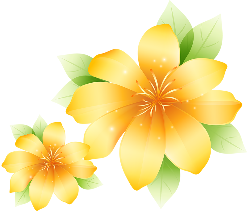 Large Yellow Flower Clipart