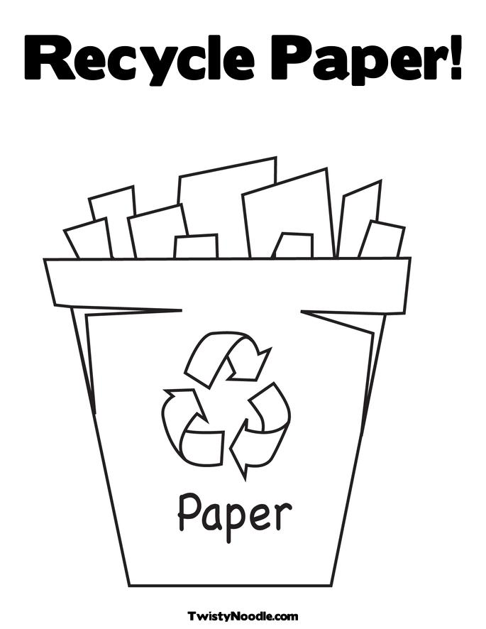 recycle coloring pages - photo#7