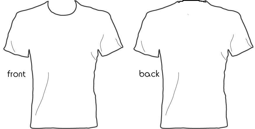 Shirt template for How to copyright at shirt design