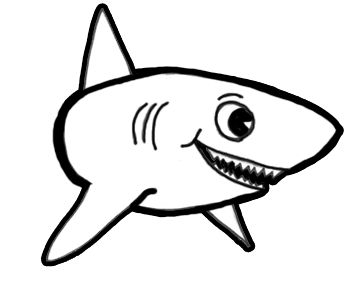 Step Sharkfinished Howtodrawashark3 How To Draw Sharks With