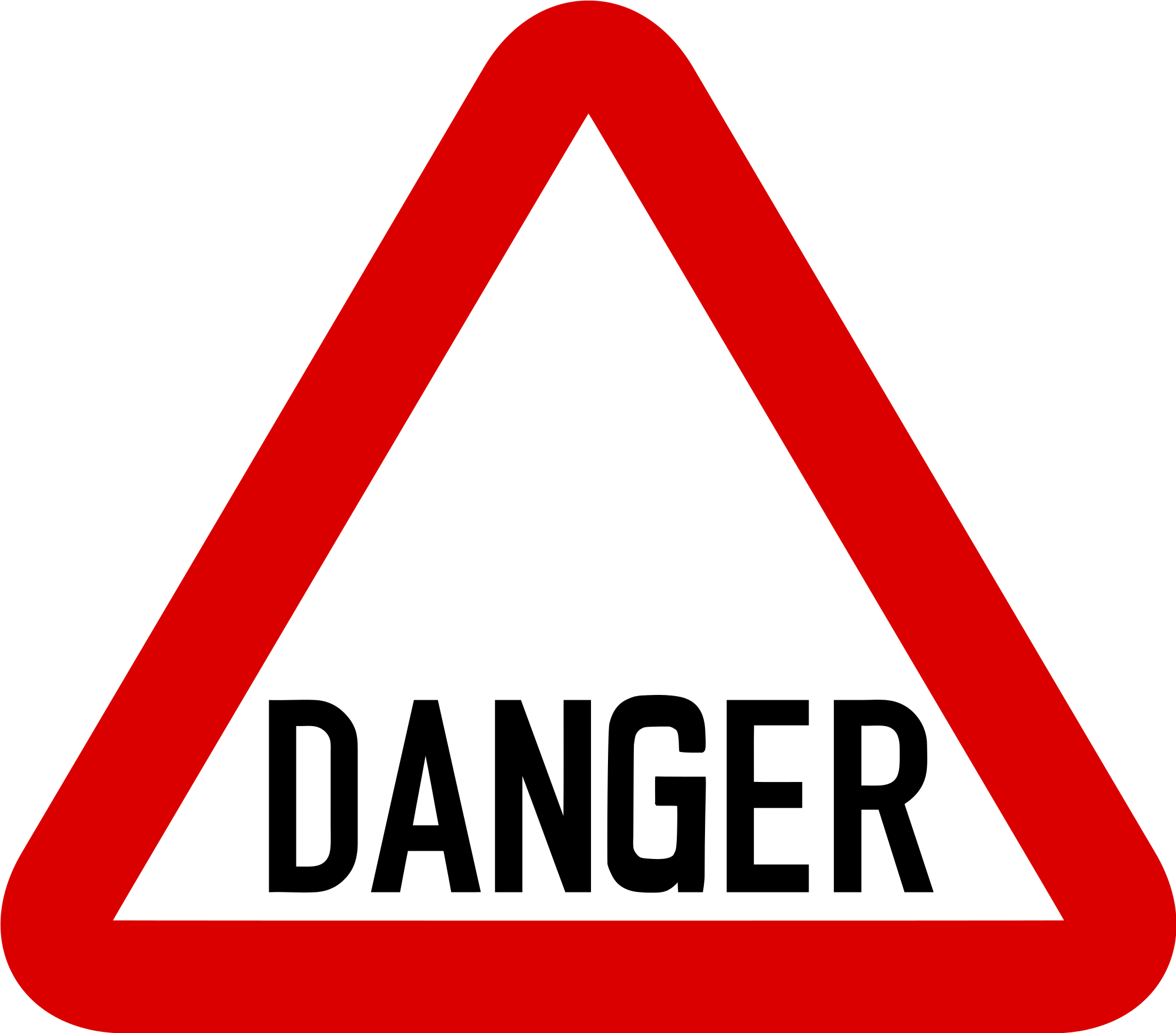 Danger road signs