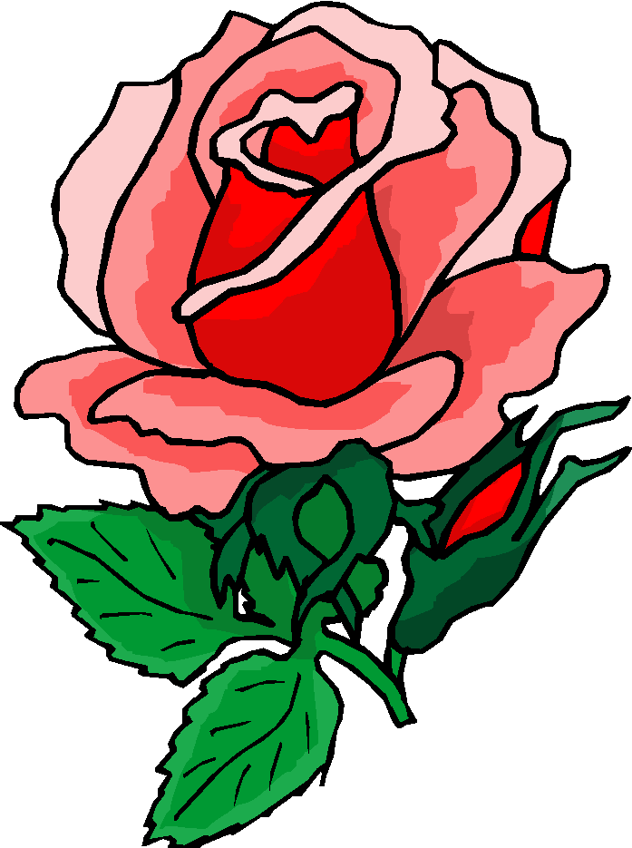 Clipart Rose Red Flower