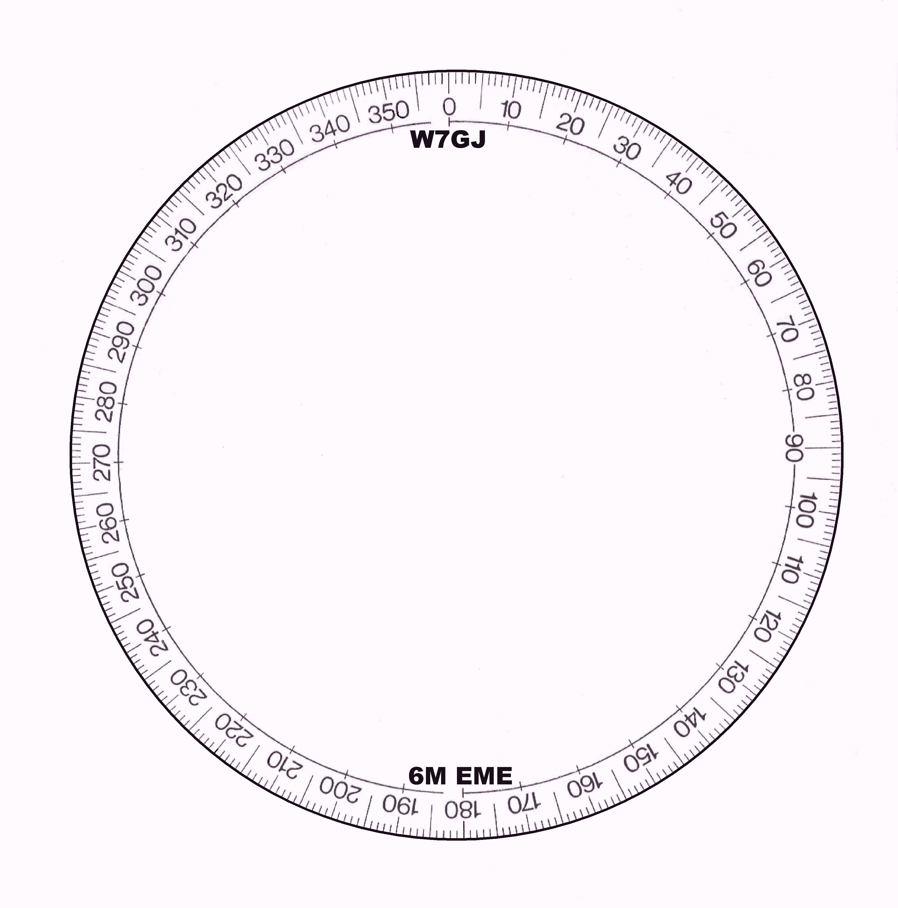 Pics for full circle protractor template printable for Circular protractor template