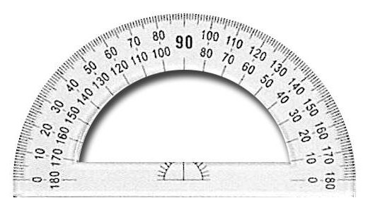 how to draw a 40 degree angle with a protractor