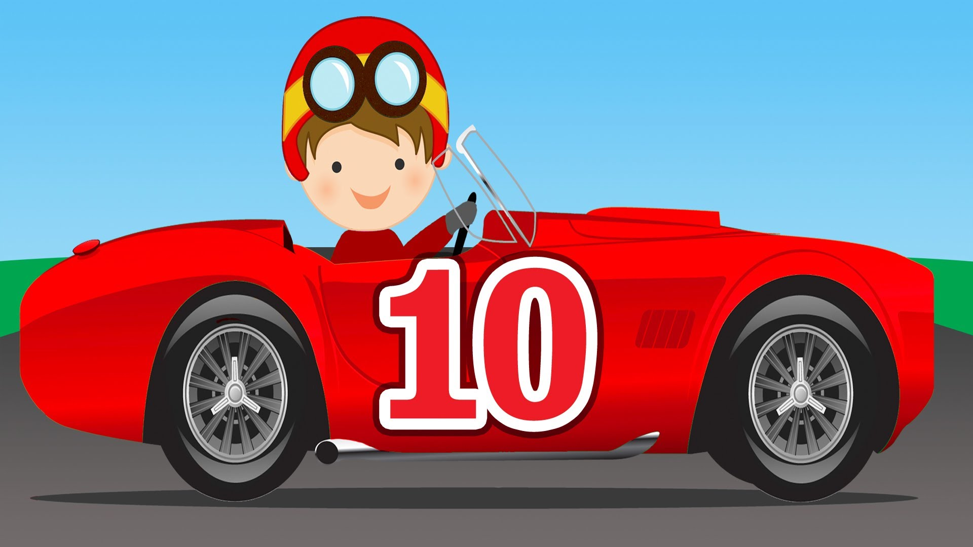 Number Counting Race Cars - Learn to Count 1 to 10 for Kids - YouTube