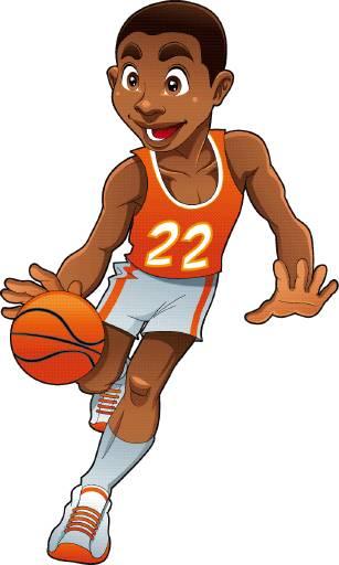 Cartoon Characters Playing Basketball : Basketball cartoons cliparts