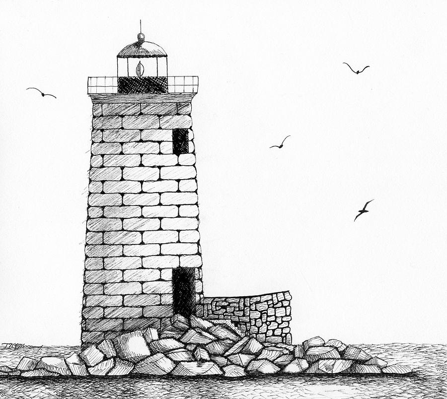 Line Art Lighthouse : Lighthouse drawing cliparts