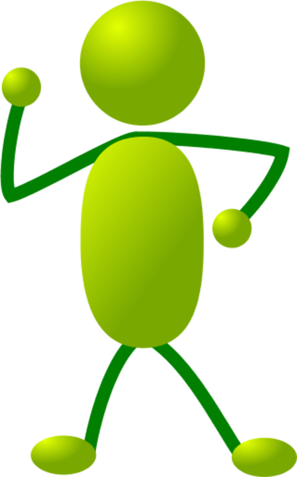 stick man figure dancing - vector Clip Art