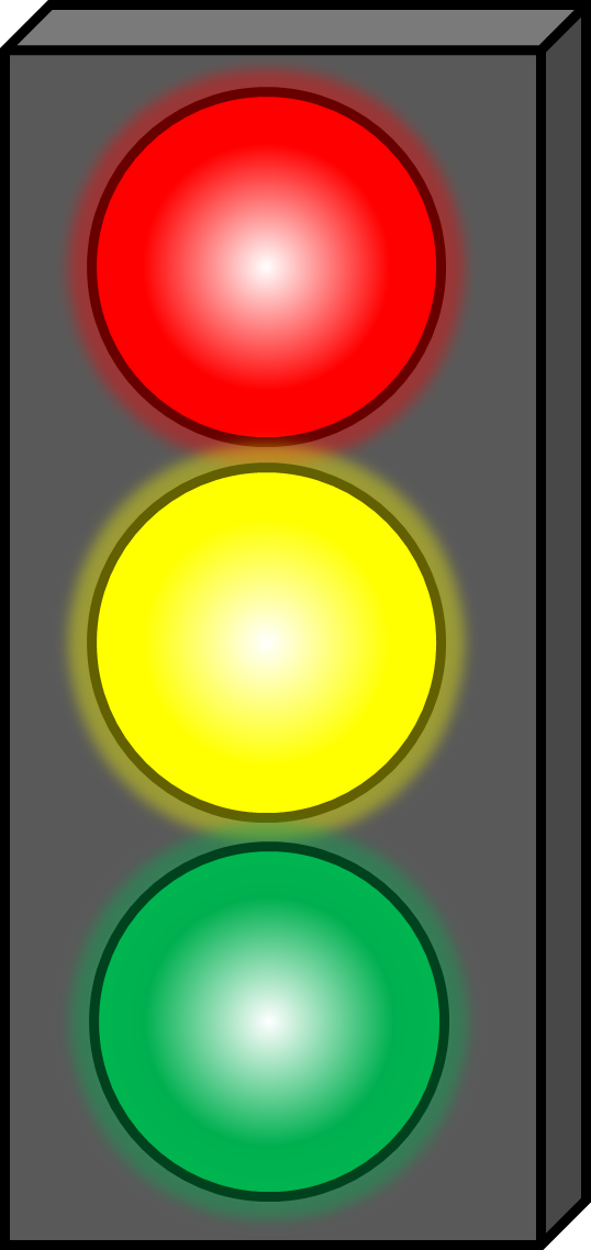 Cartoon red stop light
