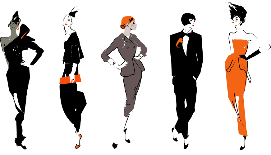 Dress to Impress: The Illustrations of Fashion