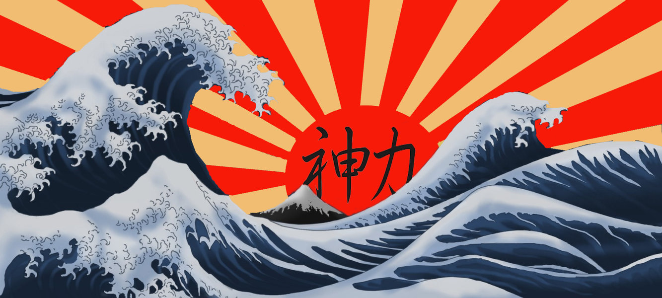 the great wave and rising sun by jmanyankees on DeviantArt