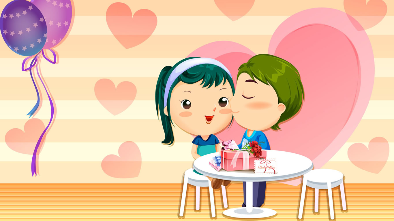 Cartoon images of love couple - Cartoon valentine wallpaper ...