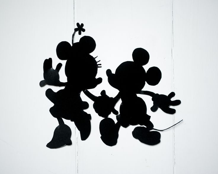 Mickey And Minnie Mouse Silhouette - Cliparts.co