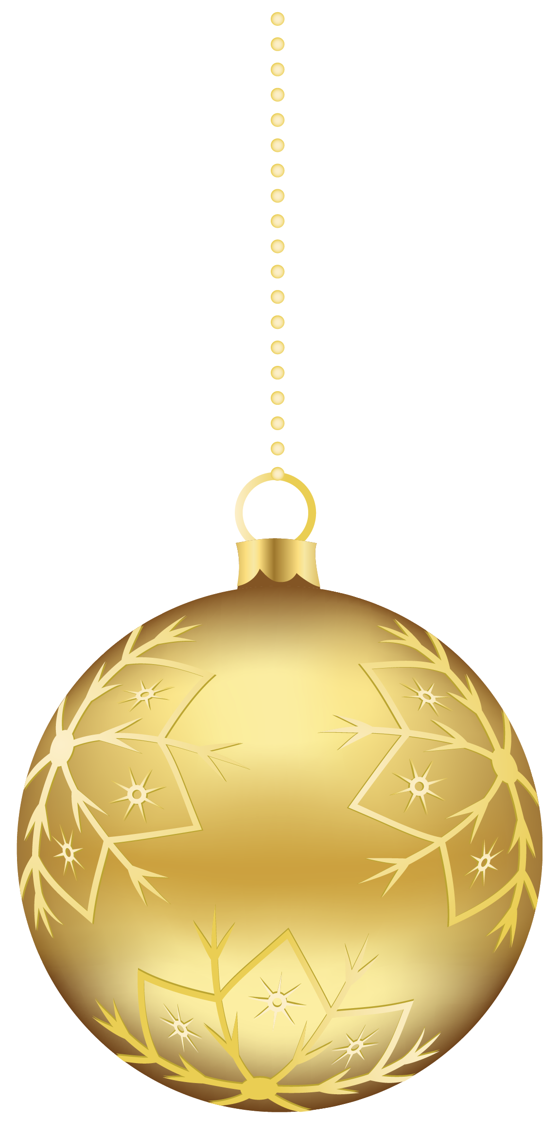 CHRISTMAS GOLD AND RED SWIRL ORNAMENT CLIP ART Christmas