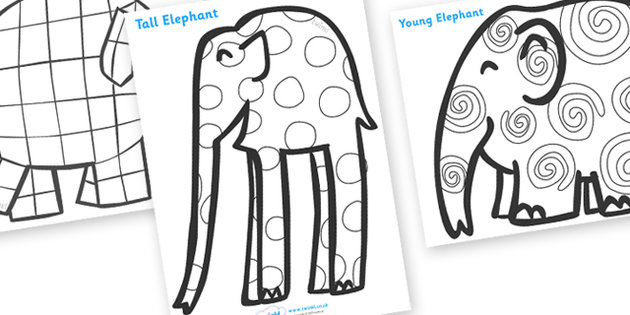 Free Colouring Pages Elmer Elephant Coloring Of