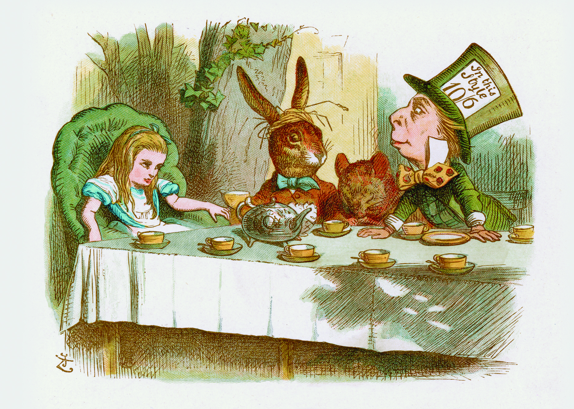mad hatter tea party clip art - photo #43