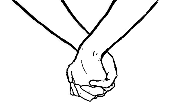 Couple Holding Hands Drawing | DrawingSomeone.com