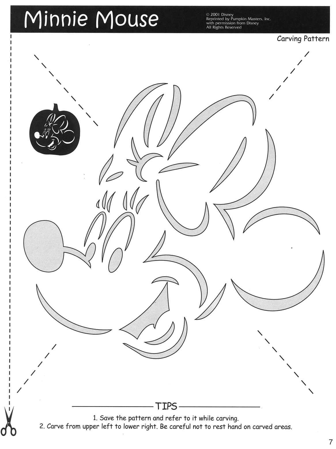 Crafty image pertaining to minnie mouse pumpkin stencil printable
