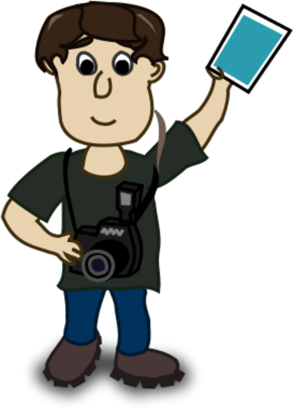 boy photographer - vector Clip Art
