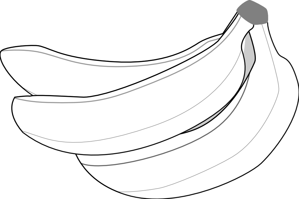 Line Art Food : Pitr bananas black white line art food coloring book