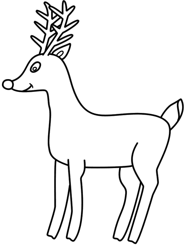 Rudolph the Red Nosed Reindeer - Coloring Page (