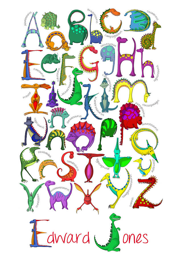 Personalised Dinosaur Alphabet Print From Lucy - Cliparts.co