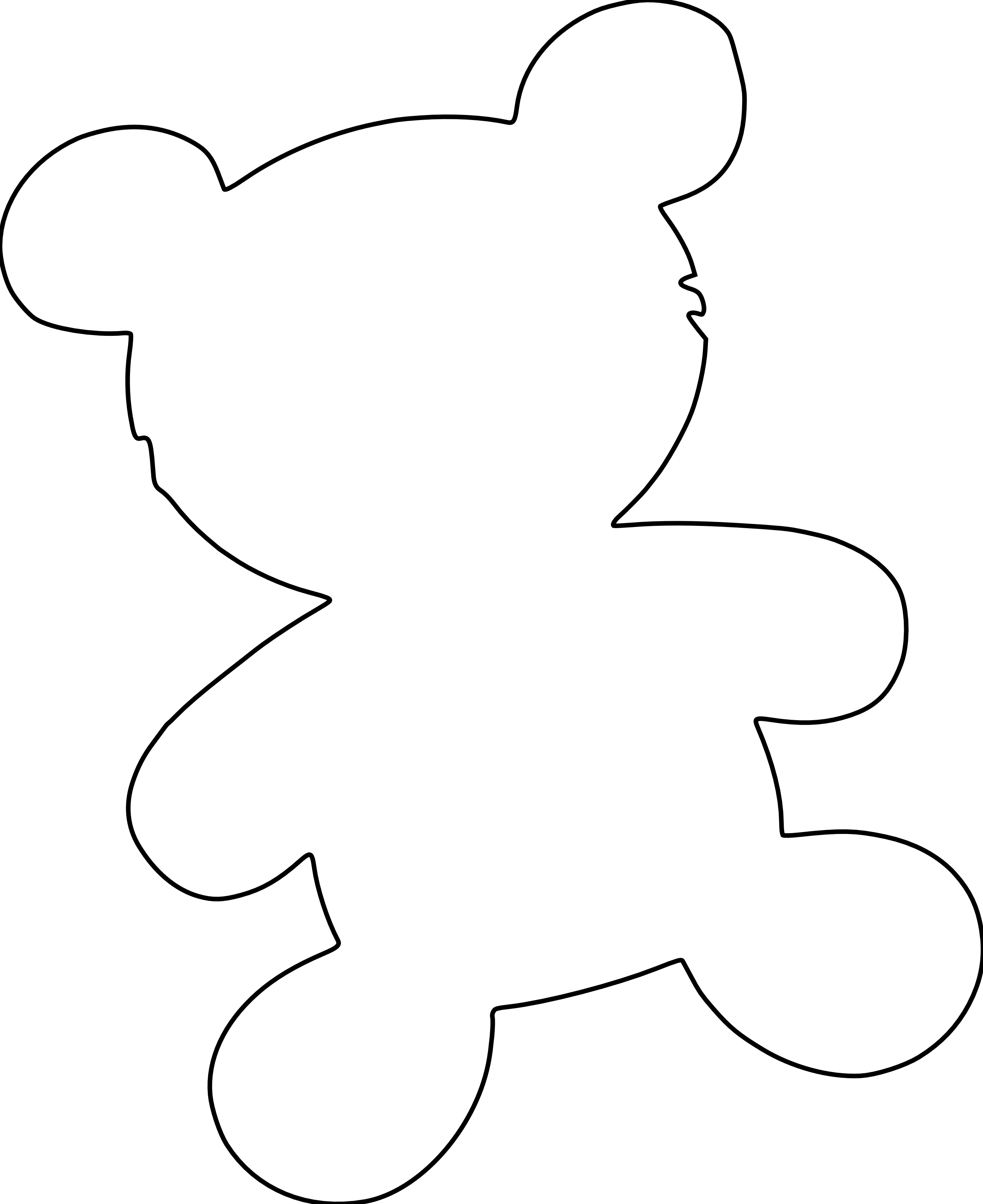Teddy bear outline clipart